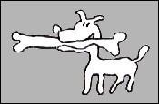 hondje-met-been-grijs-met-zwarte-frame.jpg